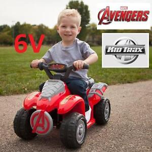 NEW KIDTRAX 6V AVENGERS RIDE ON TOY Kid Trax Marvel Avengers 6 Volt Powered Quad KID'S RIDE-ON 95607498