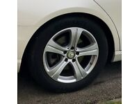 """Genuine Original OEM 17"""" Mercedes Benz Alloy Wheels with Tyres and Great Treads - No damage"""