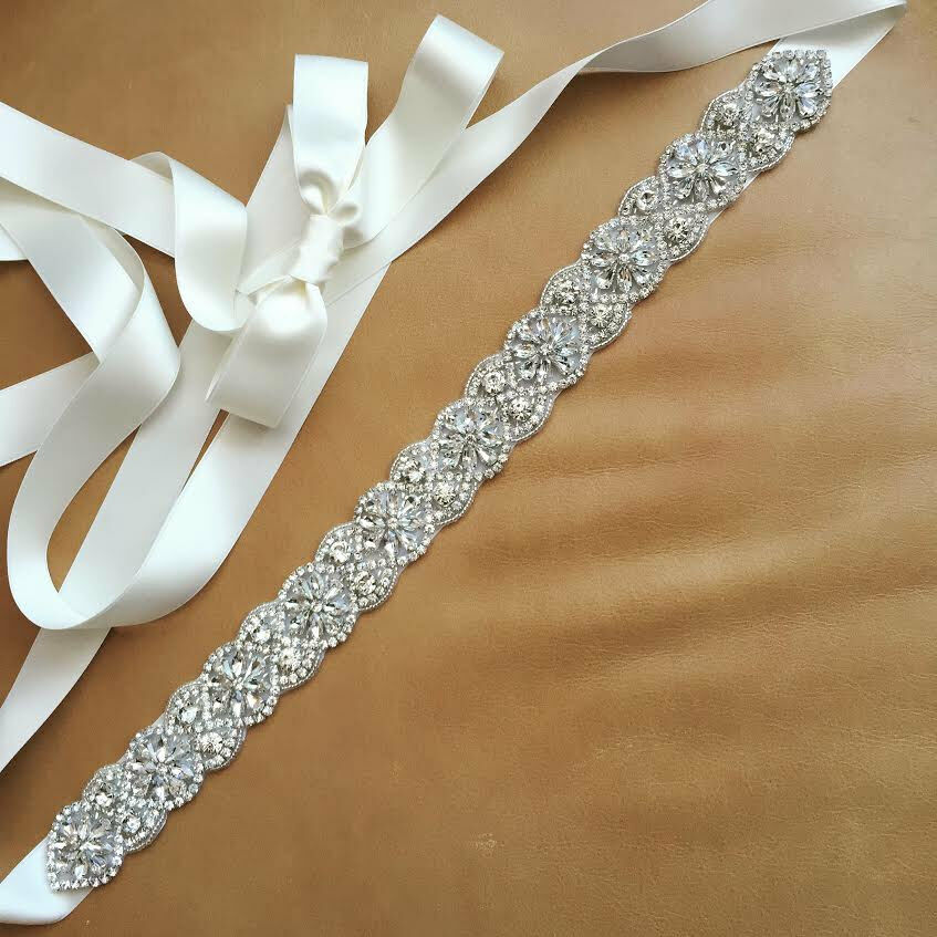 Sashwedding Dress Sash: Vintage Wedding Bridal Sash Belt Crystal Wedding Dress