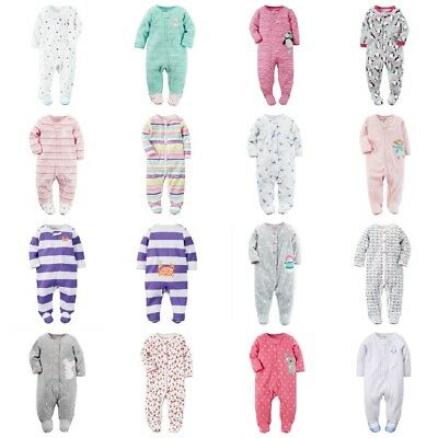 Infant Girls Sleeper (Carter's Infant Girl Footed Sleeper Play Pajamas Assorted Styles & Fabrics NWT )