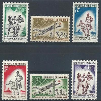 Dahomey 1963 Sc# 172-77 set Friendship games Dakar Sport French colony MNH