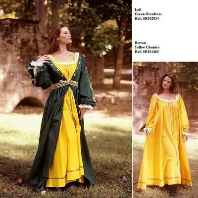 Ladies Renaissance Green Over Dress. Perfect Item for Stage and Costume