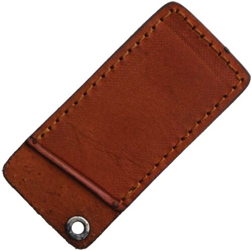 """Rough Ryder Small Knife Slip Pouch Brown Leather Construction Fits Up To 3"""""""