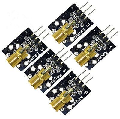 5pcs 5v Sensor Module Board For Arduino Avr Pic Ky-008 Laser Transmitter New. P