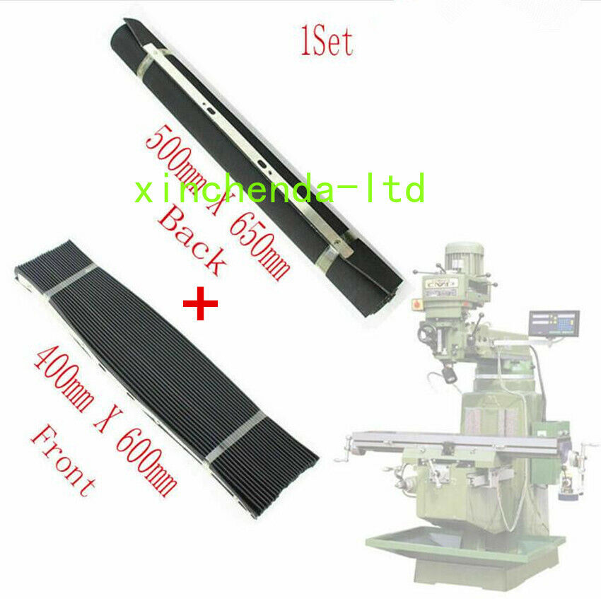 Milling Machine Part Accordion Type /& Retractable Way Black Rubber Cover