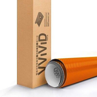 VViViD XPO Orange Dry Carbon Vinyl Car Wrap 1ft x 5ft sticker 3mil Air Release