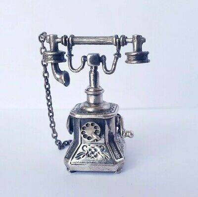 Just To Say Hello Sterling Charm Silver Vintage 925 Beau Candle Stick Phone