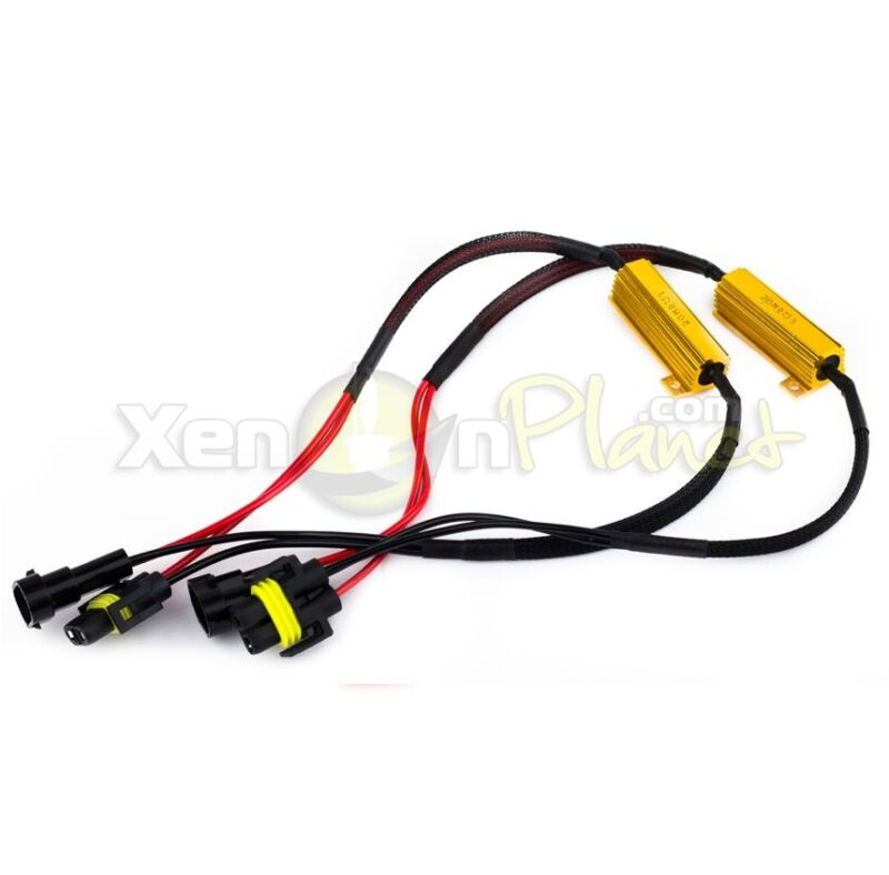 H11 50W Error Free Load Resistors decoder Warning Canceller Wiring Harness