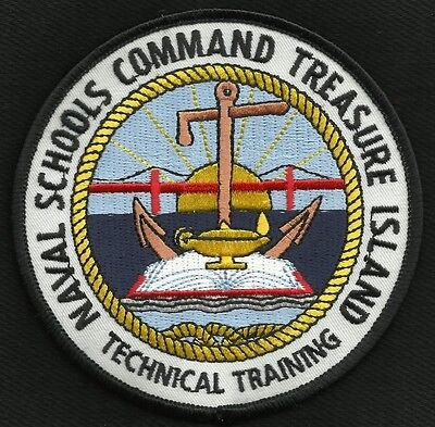 NAVAL SCHOOLS COMMAND TREASURE ISLAND MILITARY PATCH TECHNICAL TRAINING