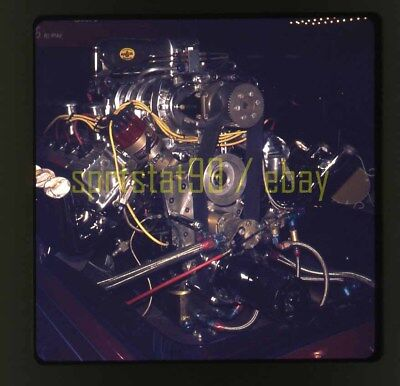 1975 Race Car Engine Close Up - Vintage 35mm Race Slide, used for sale  Cary