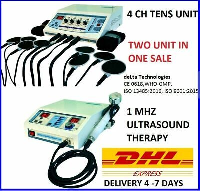 Advanced Combo Ultrasound Therapy 1mhz Therapeutic Electrotherapy 4 Channel Unit