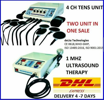 Ultrasound Therapyelectrotherapy Machine Combo Unit Cont. Pulse Therapy Unit