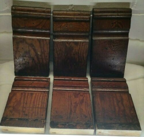 Matching Set 6 Mission Arts Craft Style Imperial Plinth Blocks Antique Salvage