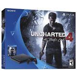 Sony PlayStation 4 Slim 500GB Console - Uncharted 4 Bundle NEW