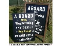 A BOARD with CHALKBOARD and LETTERING - PUB - SHOP - RESTUARANT