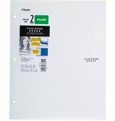 Lot Of 25 Mead Five Star 2 Pocket Plastic Folders White Stay Put Tabs Reinforced