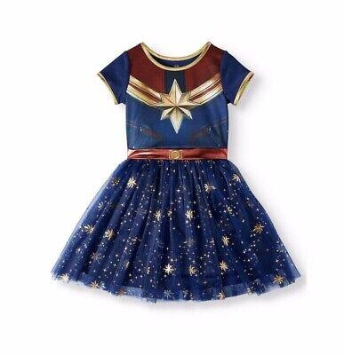 Marvel Girls Cosplay (Captain Marvel Cosplay Tutu Tulle Dress Sz Large 10-12 Big Girls)