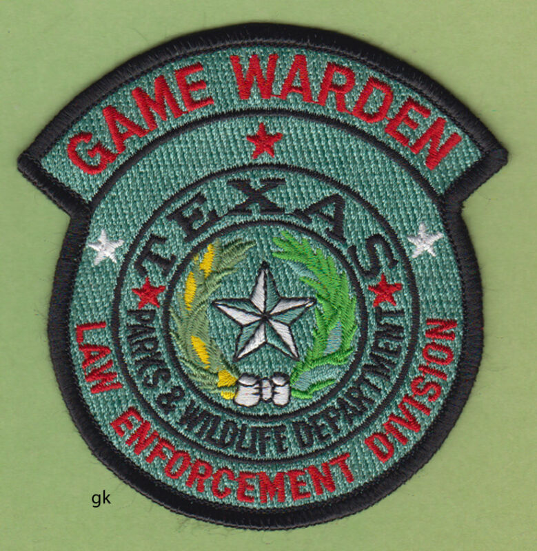 TEXAS GAME WARDEN PARKS & WILDLIFE DEPARTMENT  POLICE SHOULDER PATCH