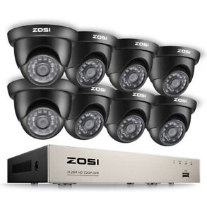 720p HD Security Camera System 8 Set Brand New
