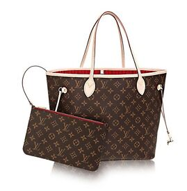 Genuine Louis Vuitton Neverfull MM handbag