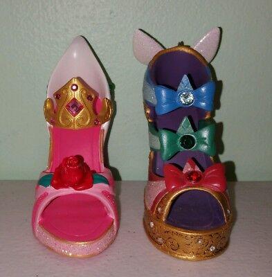 Disney Aurora Sleeping Beauty 3 Godmothers Shoe Ornaments Set of 2