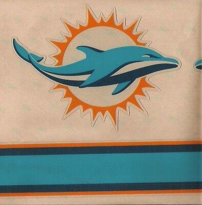 Miami Football Helmet (MIAMI DOLPHINS FULL SIZE FOOTBALL HELMET DECAL W/STRIPE &)
