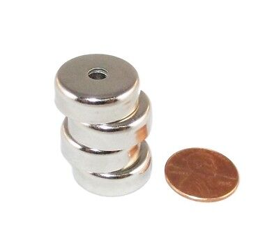 Manic Magnets 4 Pk 20 Lb Pull Countersunk Hole For 8 Bolt Rare Earth Neodymium