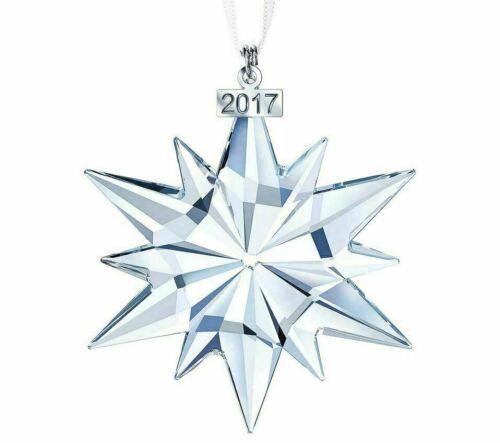 2017 Annual LARGE Swarovski Snowflake Christmas Ornament NIB! $79 #5257589