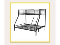 Black double and single bunk beds very good condition