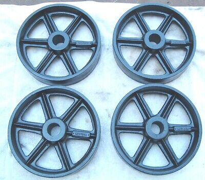 Antique Hit Miss Gas Engine Cast Iron Cart Wheel Set 12 X 3 Heavy Duty