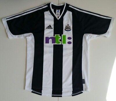Newcastle United soccer jersey 2001 #11 Gary Speed adidas striped ntl  image