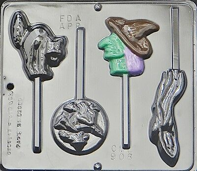 Halloween Assortment Lollipop Chocolate Candy Mold Halloween  908 NEW