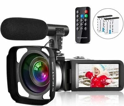 Video Camera Camcorder Vlogging Camera for Youtube Full HD 2.7K 30FPS 30 MP