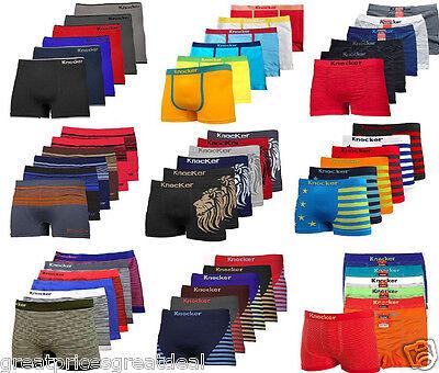 3, 6, 12 Mens Microfiber Boxer Briefs Underwear Seamless Com