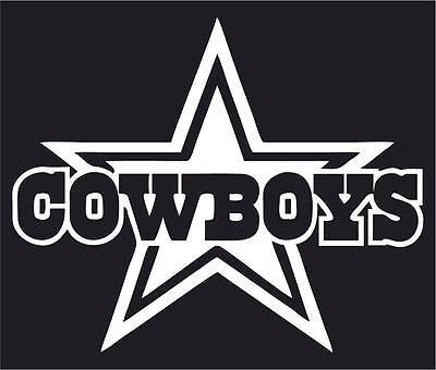 NFL Dallas Cowboys Car or Truck Window Vinyl Sticker - Dallas Cowboys Window Decal