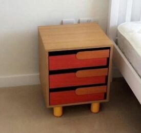 Poggio Bedside table, Bedside Boldness, Fashion style drawer