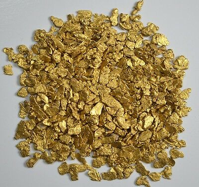 Alaskan Yukon BC  Gold Nuggets  12-10 Mesh 10 GRAMS OF CLEAN GOLD FLAKES