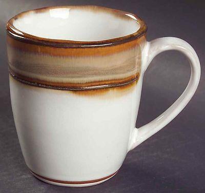 Sango WAVES BROWN Set of 4 Mugs NEW