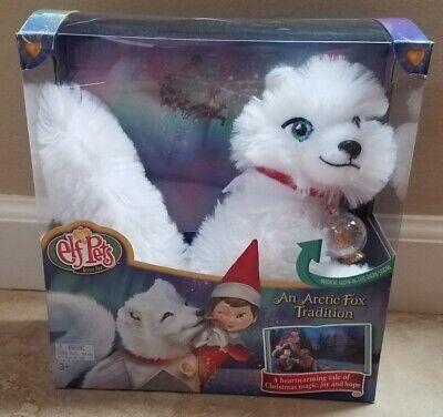 New Elf on the Shelf Pets An Arctic Fox Tradition Plush Fox w/ Book Inside