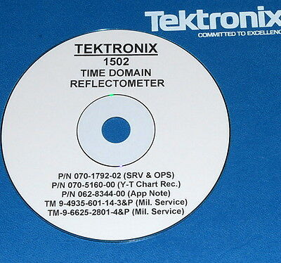 Tektronix 1502 Tdr  Y-t Operating Service Manuals 3 Volumes