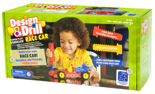Learning Resources Design and Drill Power Play - Race Car - NEW