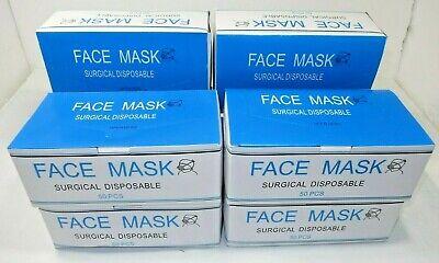 Ear Loop Procedure Dental Medical Surgical Face Mask Blue Box Of 50