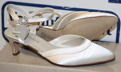 Gold Satin Schuhe (GOLDMARIE SUMMER  BRAUTSCHUHE HOCHZEITSSCHUHE ABENDSCHUHE SATIN Gr 40 Neu)