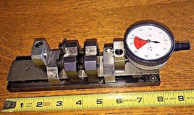 Bench Micrommeter Precision Gage Fixture 8 X 2 Mitutoyo Indicators V Blocks