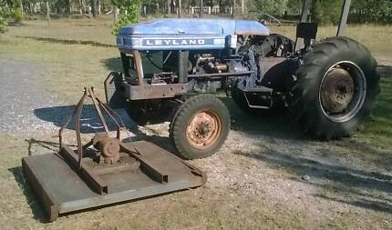 Tractor Leyland 245 diesel & grass slasher PTO & hydraulics