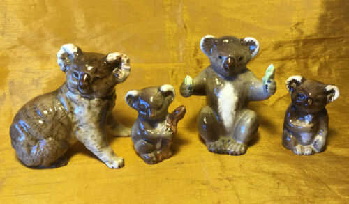Vtg BESWICK Koala Bear Figurine Family 1089 - 1038 - 1039 - 1040 Fruit / Branch