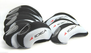 US! ADAMS Golf IDEA Iron Head Covers 10pcs Set  BLACK/GREY Color Headcover Club