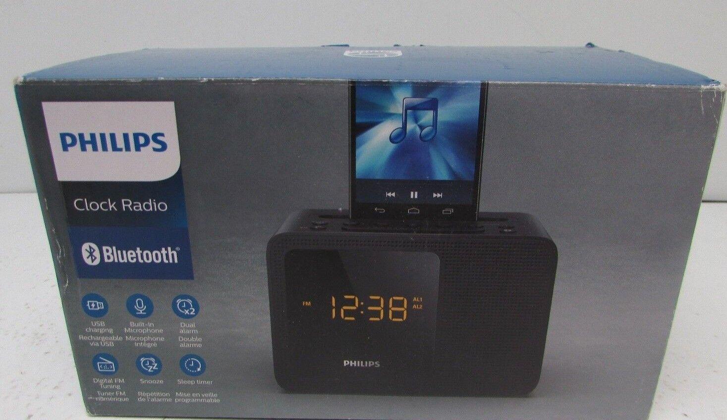 Philips AJT5300/37 Dual Alarm Bluetooth Clock Radio