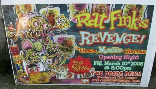Ed Roth Tales of the Rat Fink Poster Monster Sweatshirts Model Car Kits 34x22