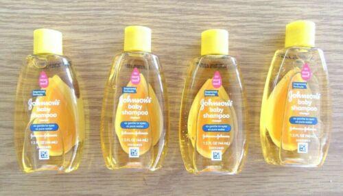 (4) Johnson's Baby Shampoo w/ Gentle Tear Free Formula Travel Size 1.5 fl. oz